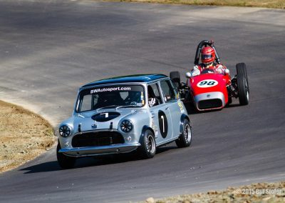 Austin Mini and Elva FJ